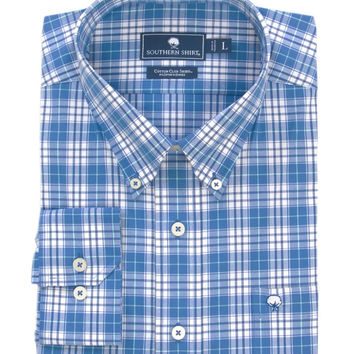 Southern Shirt co - Hackberry Plaid Cotton Club Shirt Long Sleeve