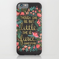Little & Fierce on Charcoal iPhone & iPod Case by Cat Coquillette | Society6
