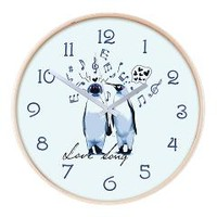 King Penguins Love song Wall Clock> Wall Art Home Decor> HotnCool