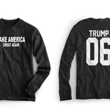 Donald Trump T Shirt - Donald T-shirt - Trump T - shirt - T Shirt Sleeved - Make America Great Again - Sizes Small – 3XL (Request Number)
