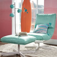 Maverick Swivel Lounge Chair & Ottoman