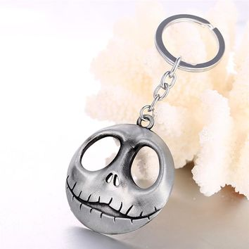 HSIC 2018 New Halloween Jack Devil Skull Pumpkin Keychain Nightmare Before Christmas Jack Devil Skull Mask Men Chaveiro Gifts