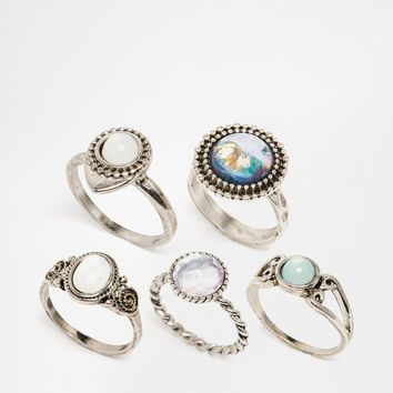 New Look Iridescent Ring Multipack