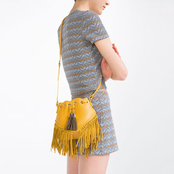 FRINGED CROSS - BODY BAG-Crossbody bags-BAGS-WOMAN | ZARA United Kingdom