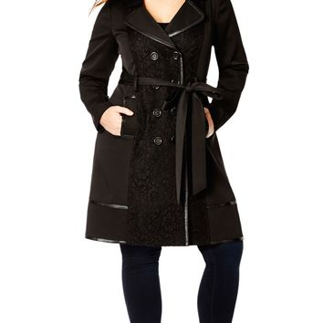 Plus Size Lace Vixen Trench Coat - City Chic