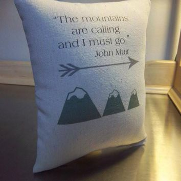 John Muir throw pillows guy gift ideas mountain cushion