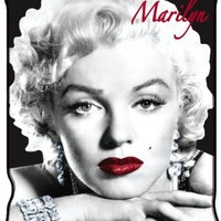 Silver Buffalo XX6127 Marilyn Monroe Close Up Micro-Plush Throw Blanket, 50 by 60-Inch