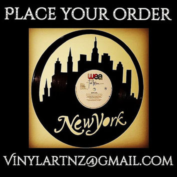 New York, New york Statue of Liberty, New York Yankees, New York Mets - Vinyl Record Art - Birthday, Souvenier & Christmas Gift - Home decor