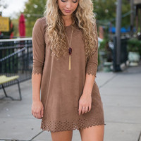 Good Vibes Dress, Camel