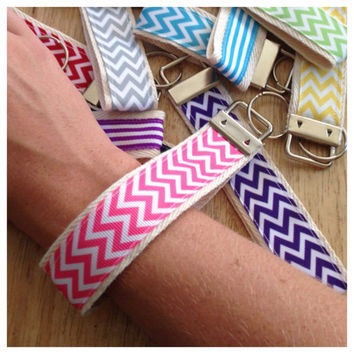 Key Fob Keychain - Chevron key fob - Hello Kitty Key fob  - Lace key fob - Anchor key fob - Stripe key fob - star key fob - USA key fob