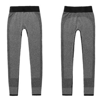 2017 Grey Fitness Workout Leggings