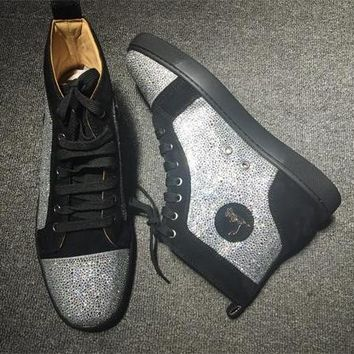 Cl Christian Louboutin Rhinestone Style #2104 Sneakers Fashion Shoes
