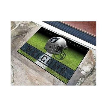Oakland Raiders 3D Crumb Rubber 18x30 Door Mat