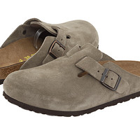 Birkenstock Boston Suede (Unisex) Taupe Suede - Zappos.com Free Shipping BOTH Ways