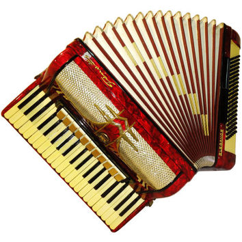 German Firotti Elegance, 120 Bass, 13 Registers, Piano Accordion Instrument, 507