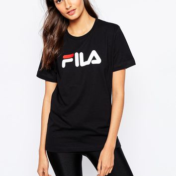 Fila Oversized Boyfriend T-Shirt With Front Logo