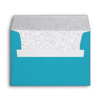 Inside Printed Envelope | Blue Boy Baby Shower