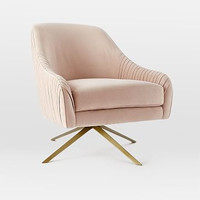 Roar + Rabbit Chair, Luster Velvet, Dusty Blush