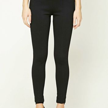 Zippered Pull-Ring Leggings
