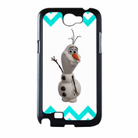 Olaf Disney Frozen Blue Chevron Samsung Galaxy Note 2 Case