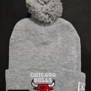 Chicago bulls Women Men Embroidery Beanies Knit Hat Cap-5