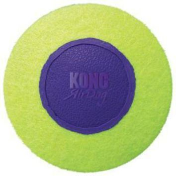 DCCKU7Q Kong Air Squeak Medium Disc Dog Toy