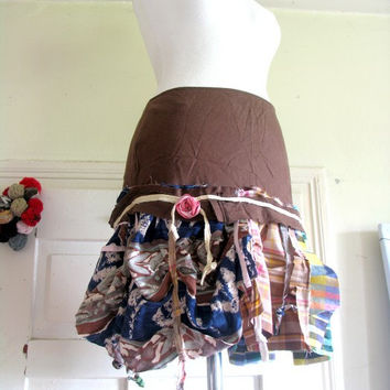 skirt,upycled Skirt, Eco Chic, fairy skirt, gypsy,  roses, dance, summer, festival, women fashion,ruffle,layers and frills