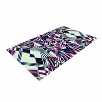 "Pia Schneider ""SWEEPING LINE PATTERN I-E4C"" Purple Geometric Woven Area Rug"