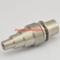 Titanium Nail Domeless GR2 G2 Titanium Nails for 20mm Heater Coil Dnail D-Nail Enail WAX Vaporizer for 14mm 18mm Glass Bong vs ceramic nail