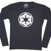 Star Wars Empire Logo Long Sleeve Thermal Shirt available online from OldSchoolTees.com