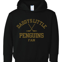 Daddys Little Penguins Fan Toddler Hoodies Sizes From 2T THRU YOUTH XL Great Hockey Hoodie For Your Little One Pittsburgh Hoodie