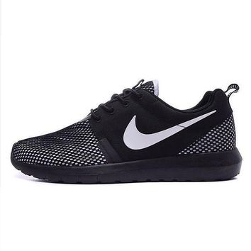 NIKE Women Men Running Sport Casual Shoes Sneakers Fisnets Black