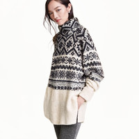 Jacquard-knit Turtleneck - from H&M