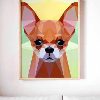 Chihuahua Dog Painting Poster Art Print Canvas Print Wall Decor Canvas Poster Print Digital Print Designer Art Painting Wall Art Home Gift