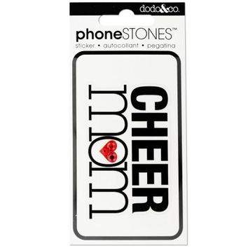 Cheer Mom Phone Stones Sticker