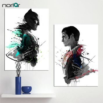 Batman Dark Knight gift Christmas Watercolor ART Prints Canvas Oil Painting Super Hero Superman Batman Decoration Home Decor Modern Wall Pictures For Living Room AT_71_6