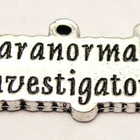Paranormal Investigator Genuine American Pewter Charm