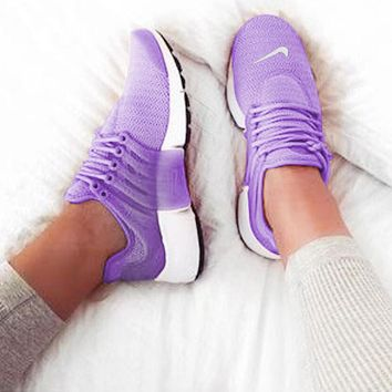 NIKE Air Presto New Fashion Hook Woman Running Sneakers Sport Shoes Purple