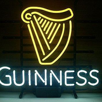 New Guinness Irish Lager Real Glass Neon Light Sign Home Beer Bar Pub Recreation Room Game Room Windows Garage Wall Sign H111 by AOOS