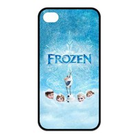 Frozen Newest 3D Cartoon Movie Cute Custom Rubber Back Case Cover for iPhone 4 4s