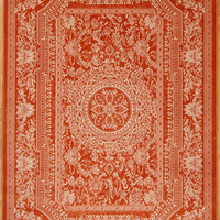 2120 Orange Medallion Traditional Area Rugs