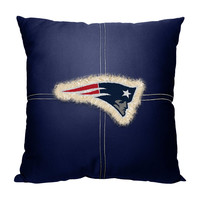 New England Patriots NFL Team Letterman Pillow (18x18)