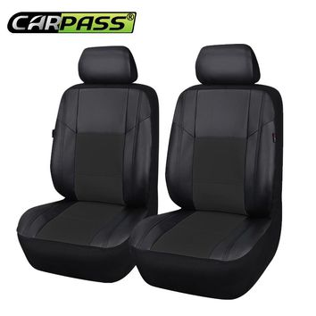 Car-pass Front Two Pu Leather Auto Car Seat Covers Fit Most Vehicles Seats Interior