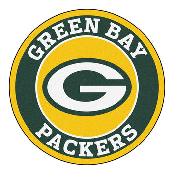 Green Bay Packers NFL Round Floor Mat (29)