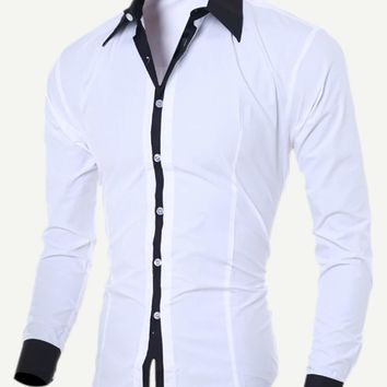 Men Color Block Shirt