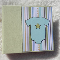 6x6 Premade Baby Boy Scrapbook Photo Album