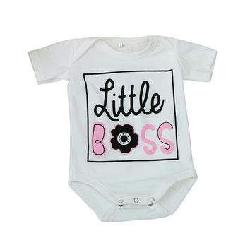 "Precious ""Little Boss"" Cotton Rompers"