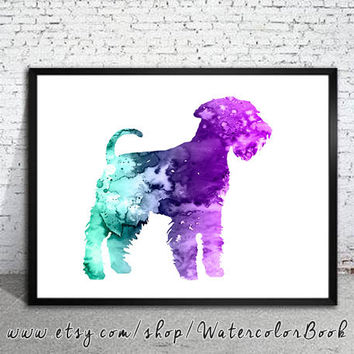 Schnauzer 4 Watercolor Print, Schnauzer art, animal art, dog watercolor, watercolor painting, animal watercolor, dog art, dog poster