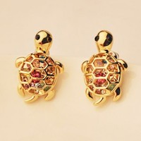 Colorful Turtle Rhinestone Fashion Earrings