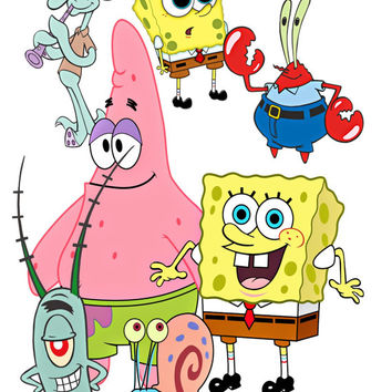 SpongeBob Image, SpongeBob Cutout,Patrick Image,Mr Krabs,Squidward Tentacles,Plankton, SpongeBob and Friends,TV Template,TV Cartoon Cutout